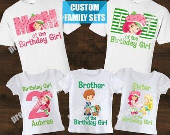 Strawberry Shortcake Family Shirts