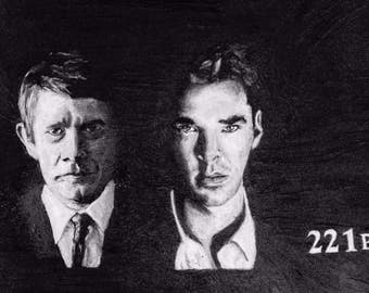 Sherlock original painting