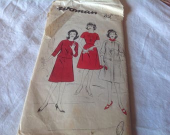 A late 1950s early 1960 s dress and coat pattern