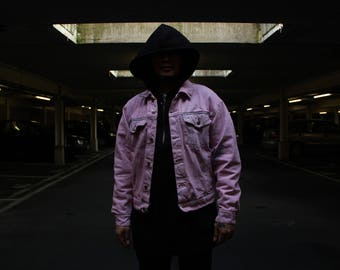 Pink Floral Denim Jacket