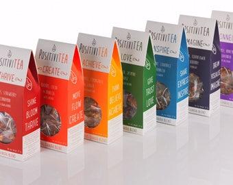 Positivitea Chakra Tea Gift Set, Herbal Tea, Tea,  Wellbeing Tea, Herbal Remedy, Chakra Tea