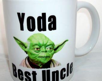 Star Wars Inspired Yoda Best  Uncle  Coffee Tea Mug