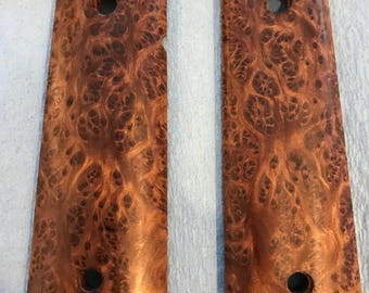 Red Mallee Burl Wood 1911 Grips