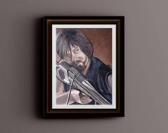 Daryl Dixon, Original Acrylic Painting