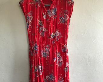 Vintage 80's Red Dress Size 12