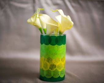 Green Ombre Spring Vase