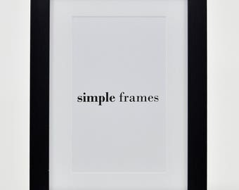 Simple Black A4 Frame with Mount - Simple Collection