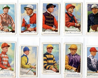 "Full set of 48 ""Famous Jockeys"" Cigarette Cards from 1936"