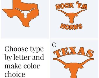 Longhorns Decal /UT Longhorns /  Decal / Window decal / Mug decal / UT Texas Longhorns