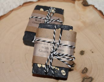 Lavender Vanilla Oatmeal with Activated Charcoal Goats Milks Soap - 1 bar approx 3 OZ