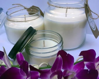 Black Orchid Scented Soy Candle