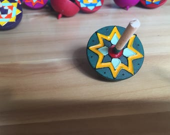 colourful Spinning Top (Cyan)