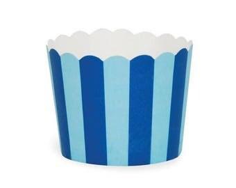 Baking Cups - Blue Stripes