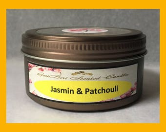 Jasmin & Patchouli Double Wick Soy Candle Tin