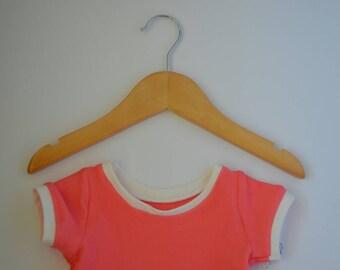 Coral dress - baby dress - girls dress - pink dress