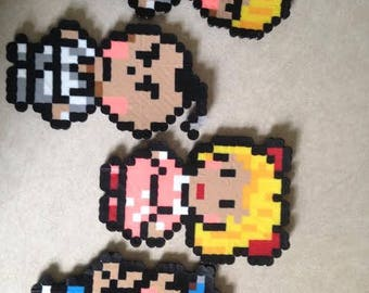 Earthbound characters perler