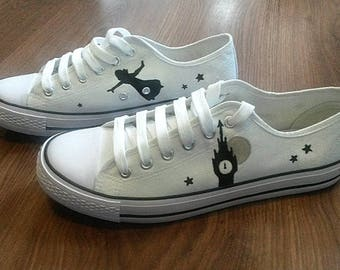 Canvas sneakers Disney 'Peter Pan' hand-painted