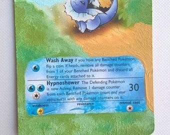 Vaporeon Pokemon card PAINTED