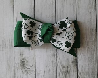 SALE Small Shamrock Bow