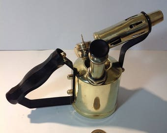 Vintage Brass Blow Torch - Mantique