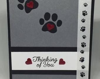Handmade / Hand Stamped Pet Sympathy Card / Pet Loss Card