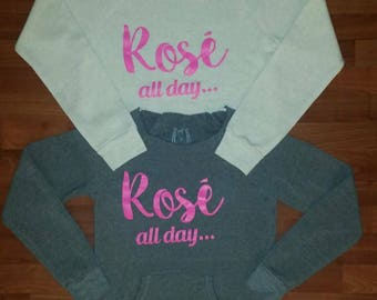 ROSE ALL DAY Alternative Womens Sweatshirt  High Quality Eco Fleece