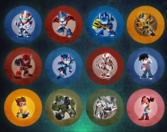 Transformers Prime Buttons