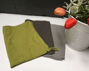 Set of Linen Kitchen Towel. Linen dish towel. Linen tea towel. Linen hand towel.