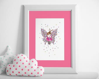 Butterfly  / Watercolor Illustration / Nursery / Printable / Wall-Deco / Children Decoration