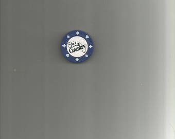 Poker Chip Magnet With Image She's Country