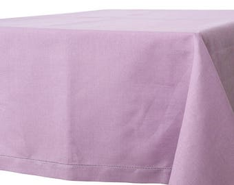 Purple Linen TABLECLOTHS - Natural textile material - made in Europe