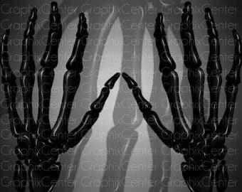 Skeleton Hands Clip Art