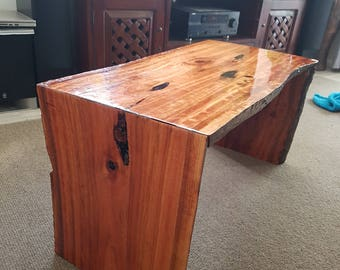 Mahogany Live Edge coffee table