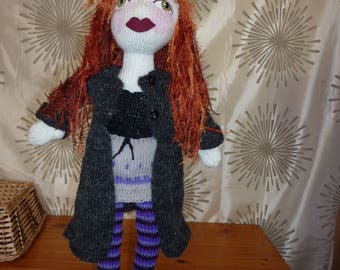 "Hand Knitted ""Babe"" doll, ""Willow"""