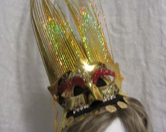 """5"""" Mini Fascinator Egyptian Goddess Mask for Mardi Gras"""