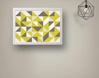 Geometric Triangles Home Print Wall Art INSTANT DIGITAL DOWNLOAD