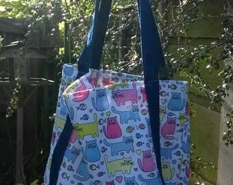 denim and cotton summer tote