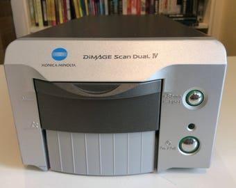 Konica Minolta DiMAGE Scan Dual IV 35mm slide Film Scanner - Model AF - 3200 - Used