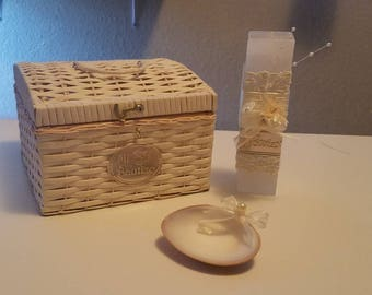 Baptism candle set - chest
