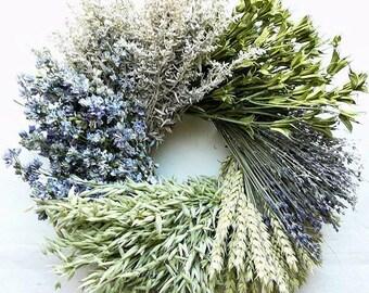 Little Cutie Wreath   Dried Flower Wreath   Blue Wreath   Dried Wreath