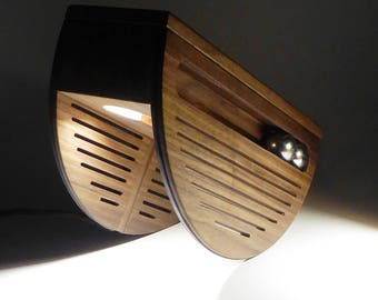 Table lamp, reading lamp, wood lamp