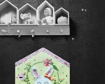Picture of child/baby room, wall decor, home of the rabbit