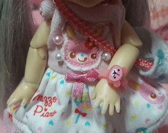 Lati yellow pink teddy watch