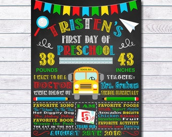 First day of school sign, First Day of School Chalkboard, Back To School, First Day of school Chalkboard Sign, For boy