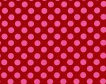 SALE - Berry Ta Dots Fabric - Michael Miller Fabric - Remnant - 12 inches