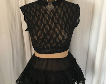 pixie fairy top and skirt #black swan#