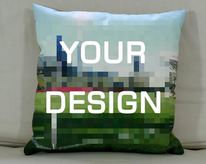 "Cushion: Your design (Large - 22"" square)"