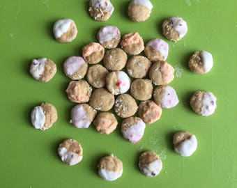 24 Doggie Donut Holes (Dog. Puppy. Almond Butter. Oatmeal. Pet. Homemade treats made by pet owner.)