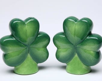 Shamrock Salt and Pepper Shaker Set