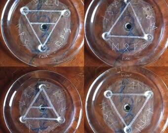 Set of 4 Elemental Altar Tiles